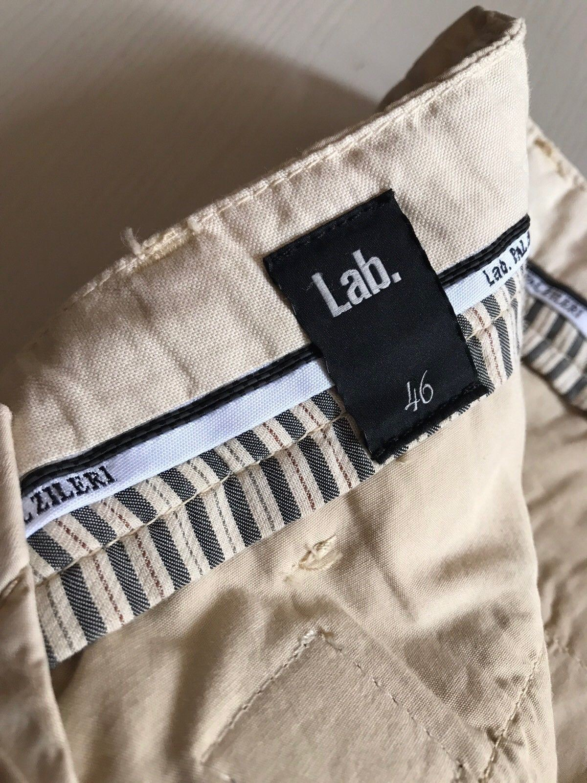 NWT $520 Pal Zileri Mens Pants Cream 30 US ( 46 Eur ) Italy - BAYSUPERSTORE