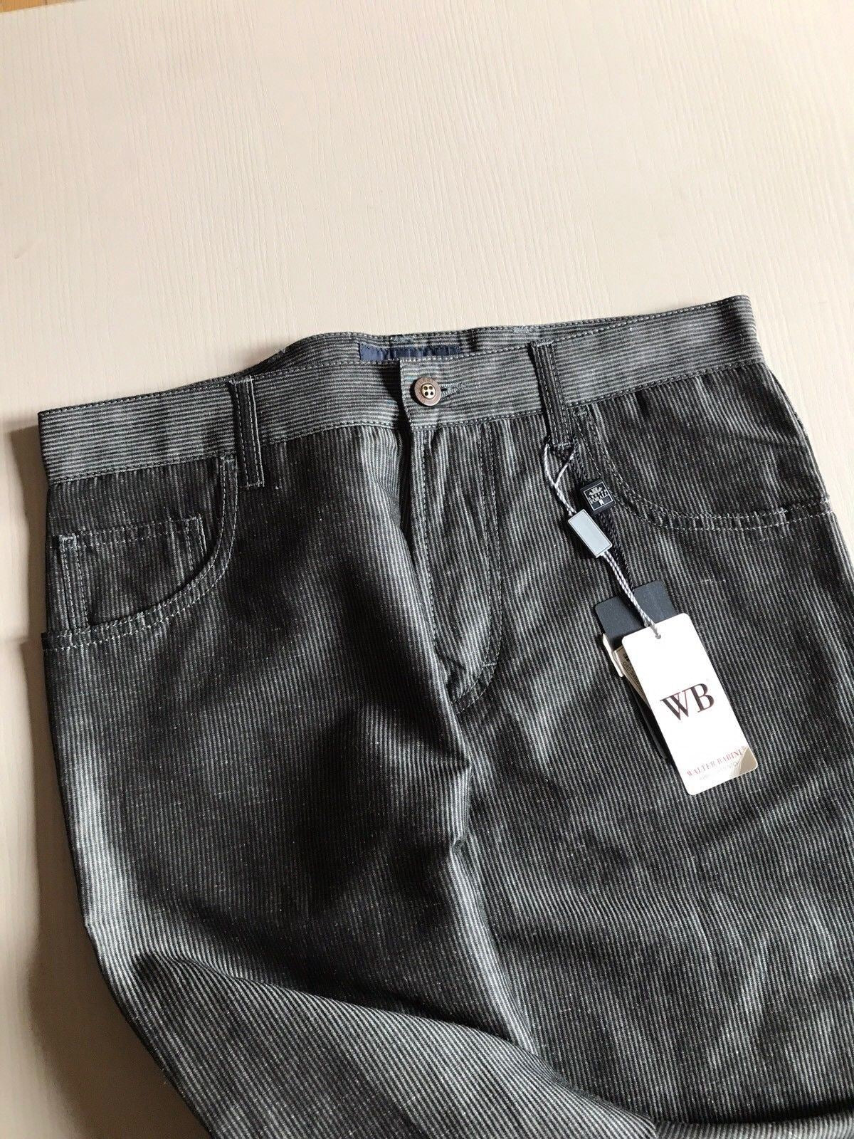 NWT $570 Pal Zileri Mens Pants Jeans DK Gray 30 US ( 48 Eur ) Italy - BAYSUPERSTORE