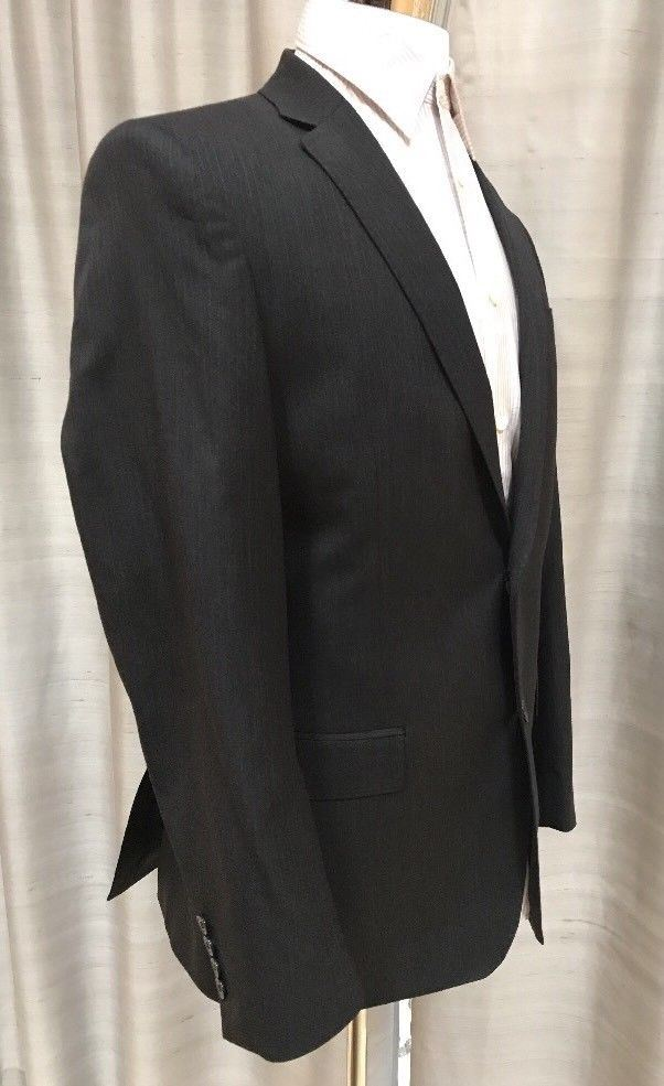 NWT $1395 Versace Collection Suit Gray Striped 40 US (50R Eur ) - BAYSUPERSTORE