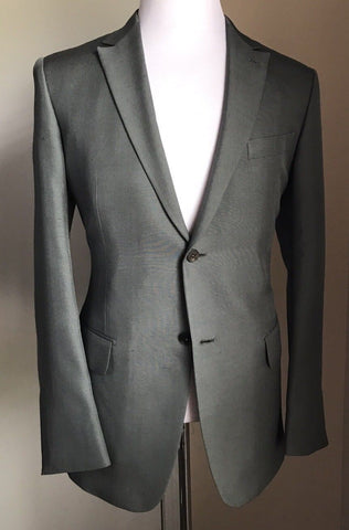 New $5995 Ermenegildo Zegna Couture Silk Suit Green/Silv 42R US ( 52R Eur)