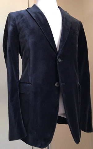 New $1550 Salvatore Ferragamo Sport Coat Blazer Blue 44 US ( 54 Eur) Italy - BAYSUPERSTORE