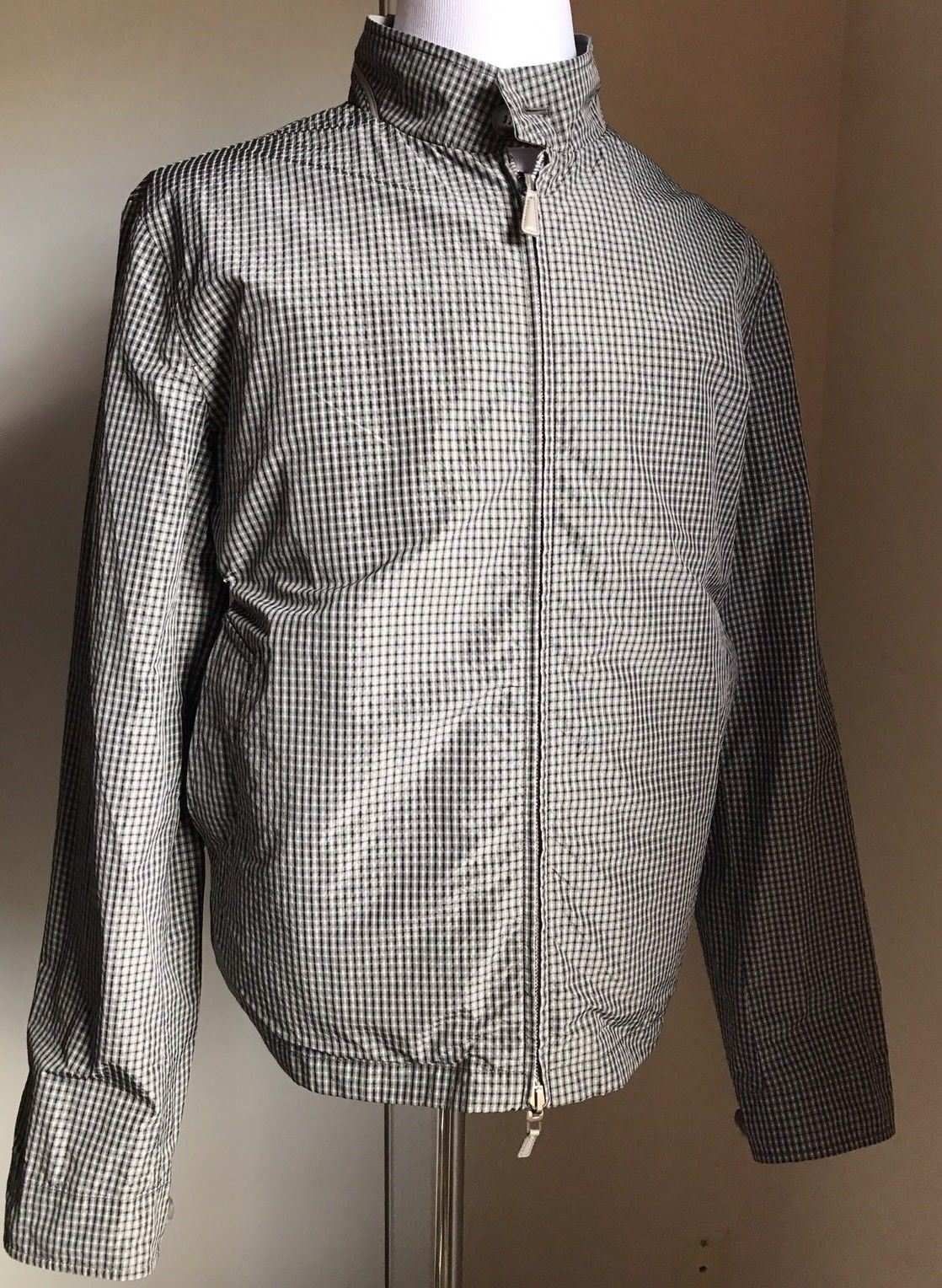 New $1995 Ermenegildo Zegna 2 Sided Jacket Silver/SLD 48 US ( 58 Eur )Italy