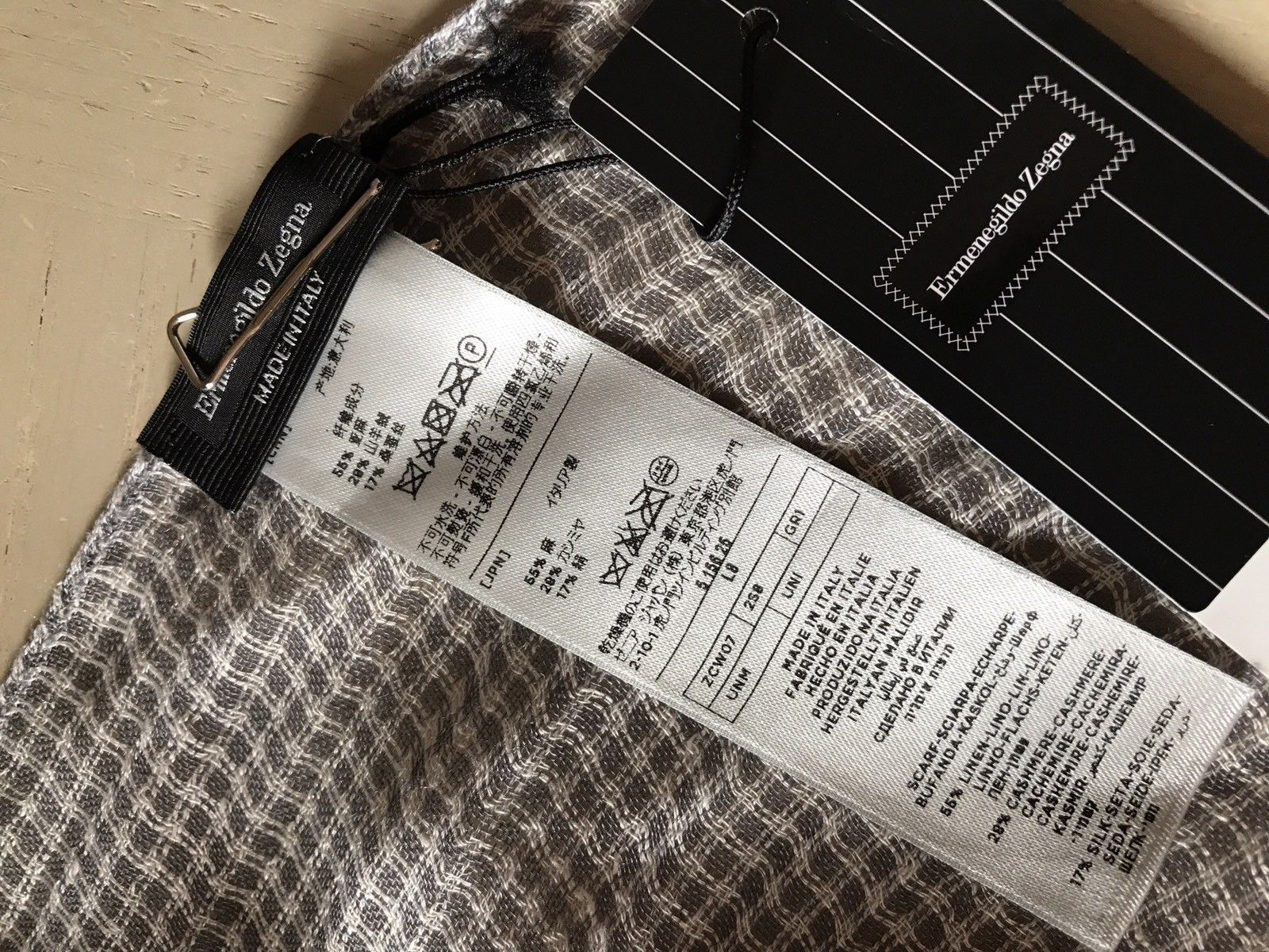 NWT $375 Ermenegildo Zegna Men's Scarf MD Gray Made in Italy - BAYSUPERSTORE