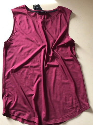 New $195 Dolce & Gabbana Men's Sleeveless T-Shirt Burgundy M US ( 48 Eu ) Italy