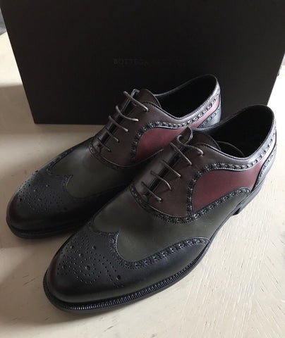 NIB $960 Bottega Veneta Mens Leather Shoes Multi- Color 7 US ( 40 Eu ) - BAYSUPERSTORE