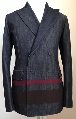 New $1700 Bottega Veneta Mens Jeans Sport Coat Blazer Blue 40 US ( 50 Eur ) Ita - BAYSUPERSTORE