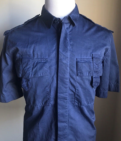 NWT $690 Bottega Veneta Mens Shirt Blue L US ( 54 Eu ) Italy
