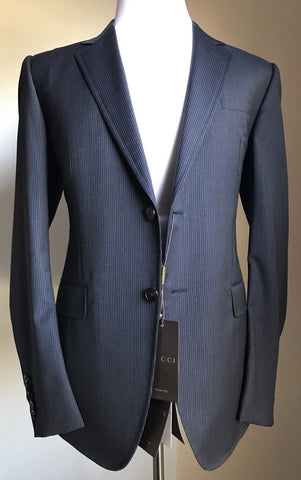 New $3145 Gucci Mens Wool Suit Gray Black Striped 42R US ( 52R Eu)Italy - BAYSUPERSTORE