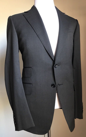 New $3250 Gucci Classic Suit Super 140S Wool Dark Gray 42R US ( 52R Eu) Italy