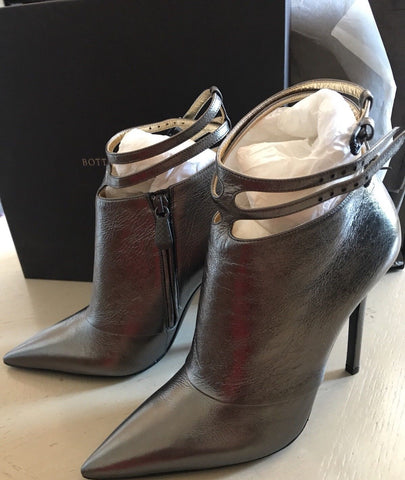 NIB $990 Bottega Veneta Women Leather Shoes Boots Metal Black 9 US ( 39 Eu ) - BAYSUPERSTORE