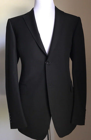 New $2450 Gucci Men's Classic Sport Coat Jacket Blazer Black 44 US ( 54 Euro )