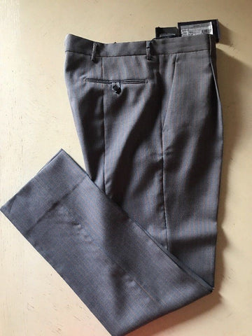 NWT $1150 PRADA Mens Pants Gray Red Stripped 34 US ( 50 Eu ) Italy - BAYSUPERSTORE