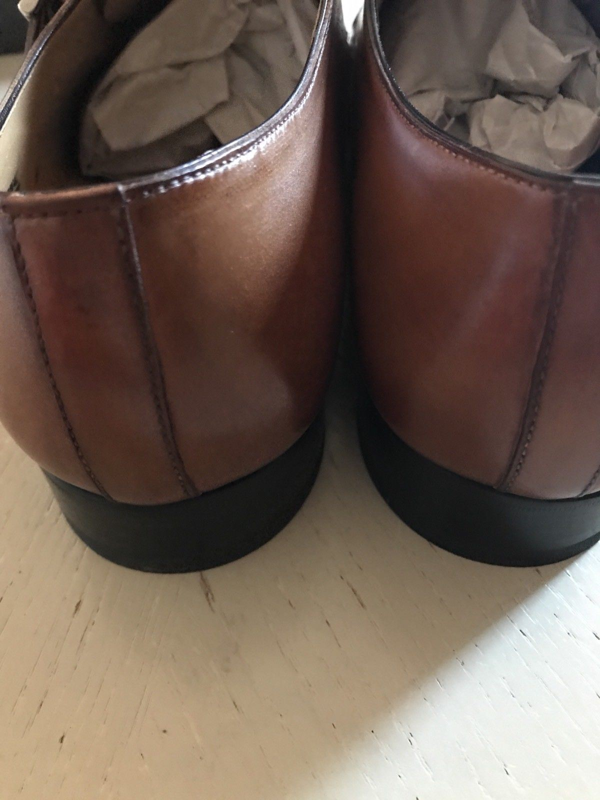 New $640 Baldinini Men's Leather Shoes Brown 12 US ( 45 Eu ) Italy - BAYSUPERSTORE