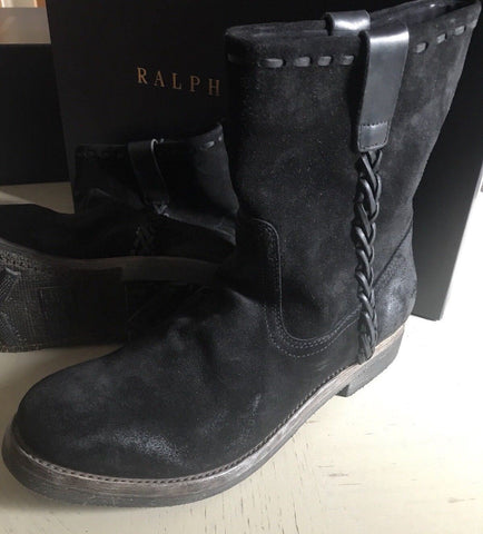 New $995 Ralph Lauren Purple Label Mens Only Suede Shoes Boots Black 11.5 US