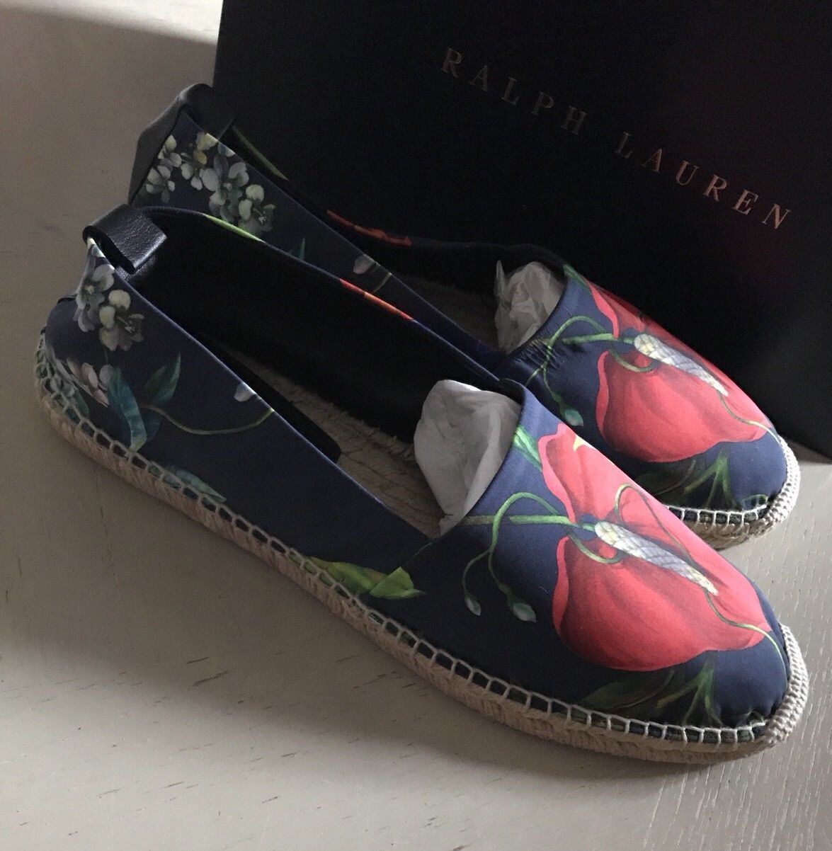 New $350 Men's Ralph Lauren Purple Label Loafers Shoes Red/Blue 11 US - BAYSUPERSTORE