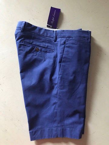 NWT $395 Ralph Lauren Purple Label Mens Short Pants Blue Size 30 US Italy - BAYSUPERSTORE
