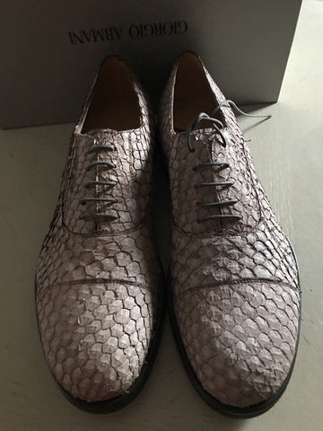 New $1395 Giorgio Armani Mens Fish Skin Leather Shoes LT Pink 10 US X2C487 Italy - BAYSUPERSTORE