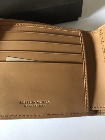 New $625 Bottega Veneta Mens Wallet Light Brown 196207 Italy