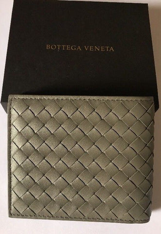 New $625 Bottega Veneta Mens Wallet Dark Green 196207 Italy
