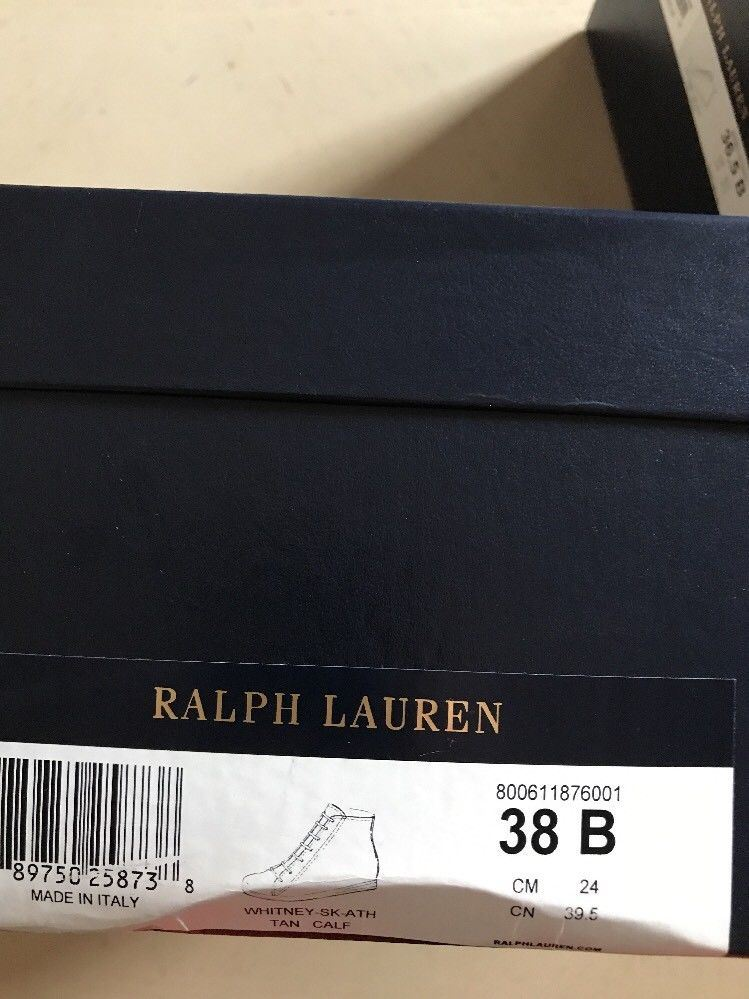 NIB $550 Ralph Lauren Purple Label Women Ankle  Boots Brown 8 US - BAYSUPERSTORE