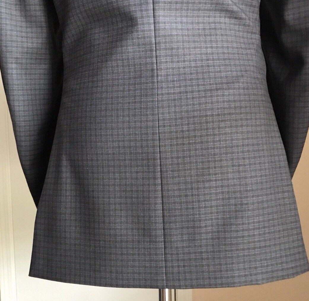 New $1495 Z Zegna Mens Wool Suit Dark Gray CK 40L US ( 50L Eu)