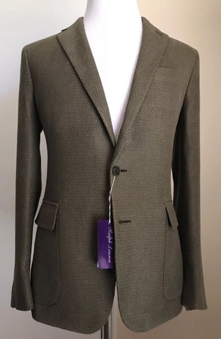 NWT $1995 Ralph Lauren Purple Label Mens Sport Coat Blazer Olive 38R  Italy