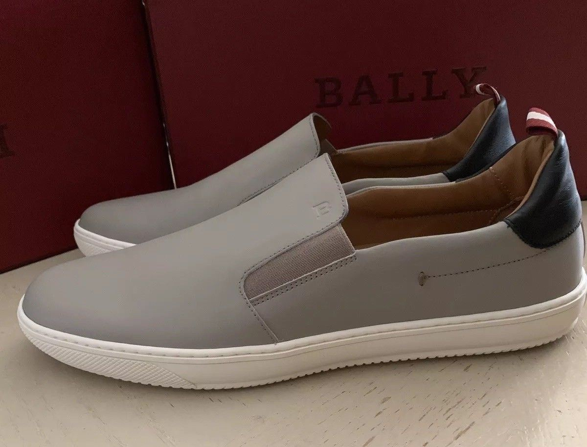 New $510 Bally Men Orniel Leather Sneakers Shoes Gray ( Wheat ) 8 US Switz.