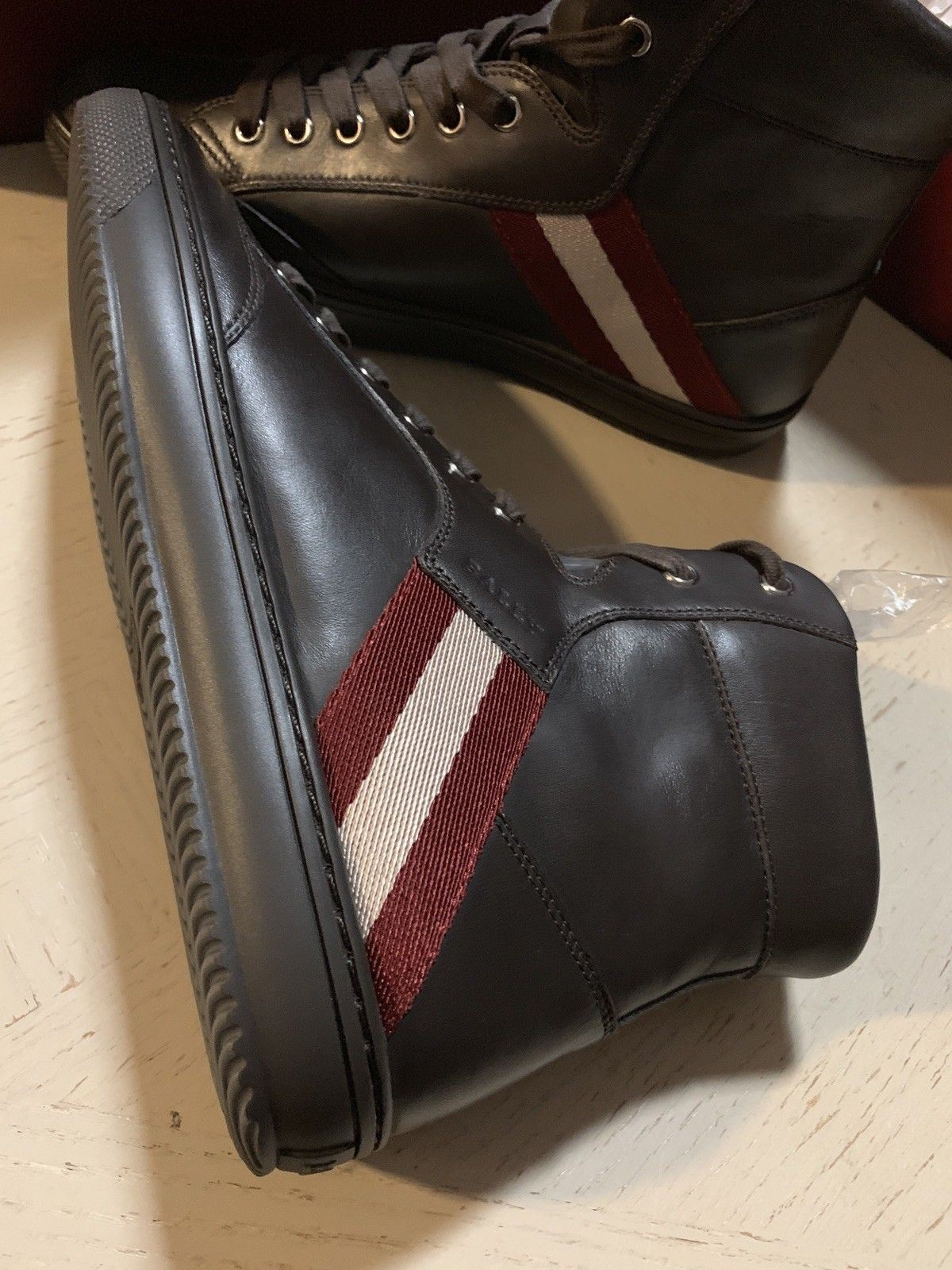 New $650 Bally Men Oldani Leather High-Top Sneakers Brown ( Chocolate ) 7 US