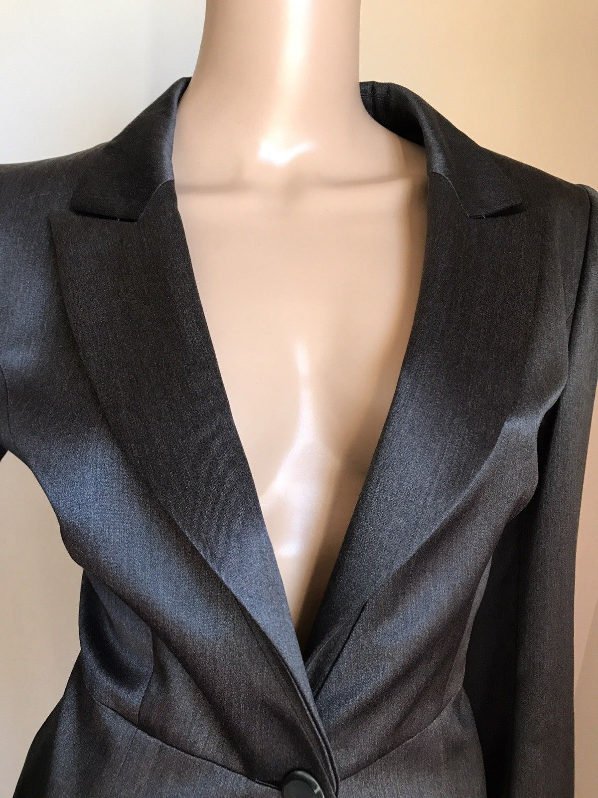 New $4995 Giorgio Armani Women's Jacket Blazer DK Gray 16 US ( 46 Eu ) Italy