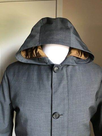 Prada Coat Overcoat Jacket Gray Men 40 US ( 50 Eu ) New $2675 Italy