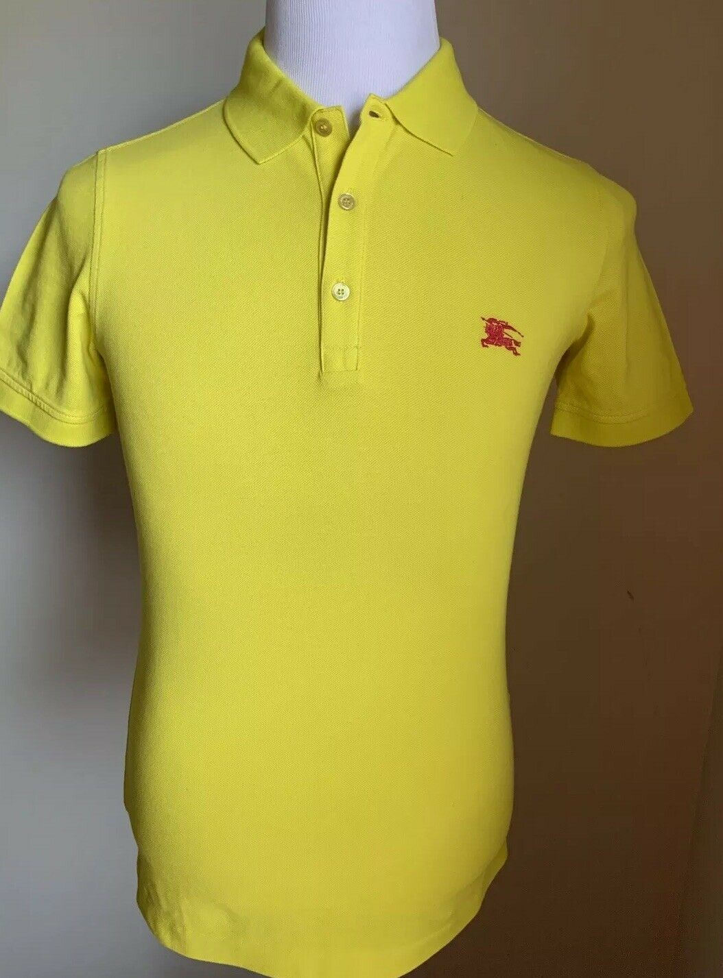 33a584482 NWT  250 Burberry Brit Mens Polo Shirt Yellow XS US – BAYSUPERSTORE