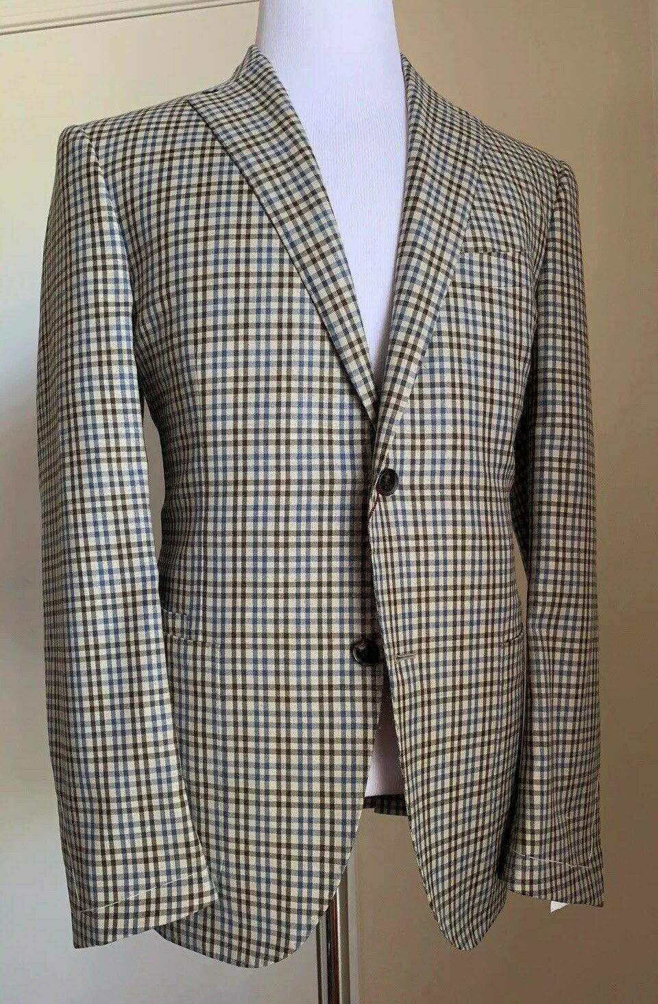 New $2586 Luciano Barbera Men Sport Coat Blazer Jacket Brown 42R US ( 52R Eu )