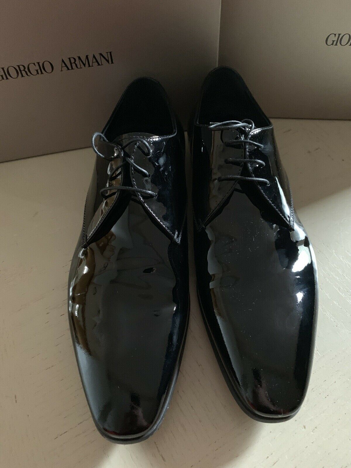 New $595 Giorgio Armani Mens Leather Oxfords Shoes Black 12 US/11 UK X2C036 Ita