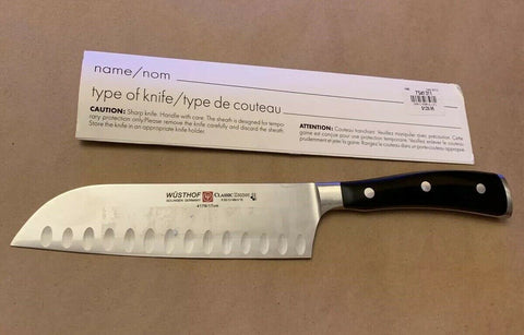 New Wusthof Classic Ikon 7 Hollow Ground Santoku Knife 4176/17 Made in Germany