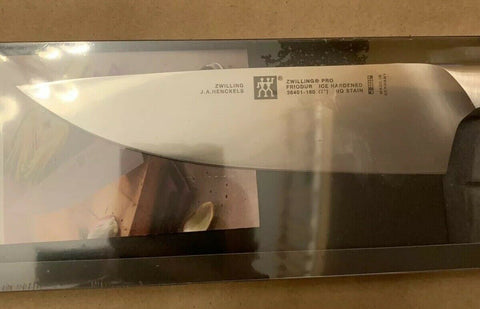 New In Box Zwilling Pro 7 Inch Chefs Knife 38401-180 Made in Germany