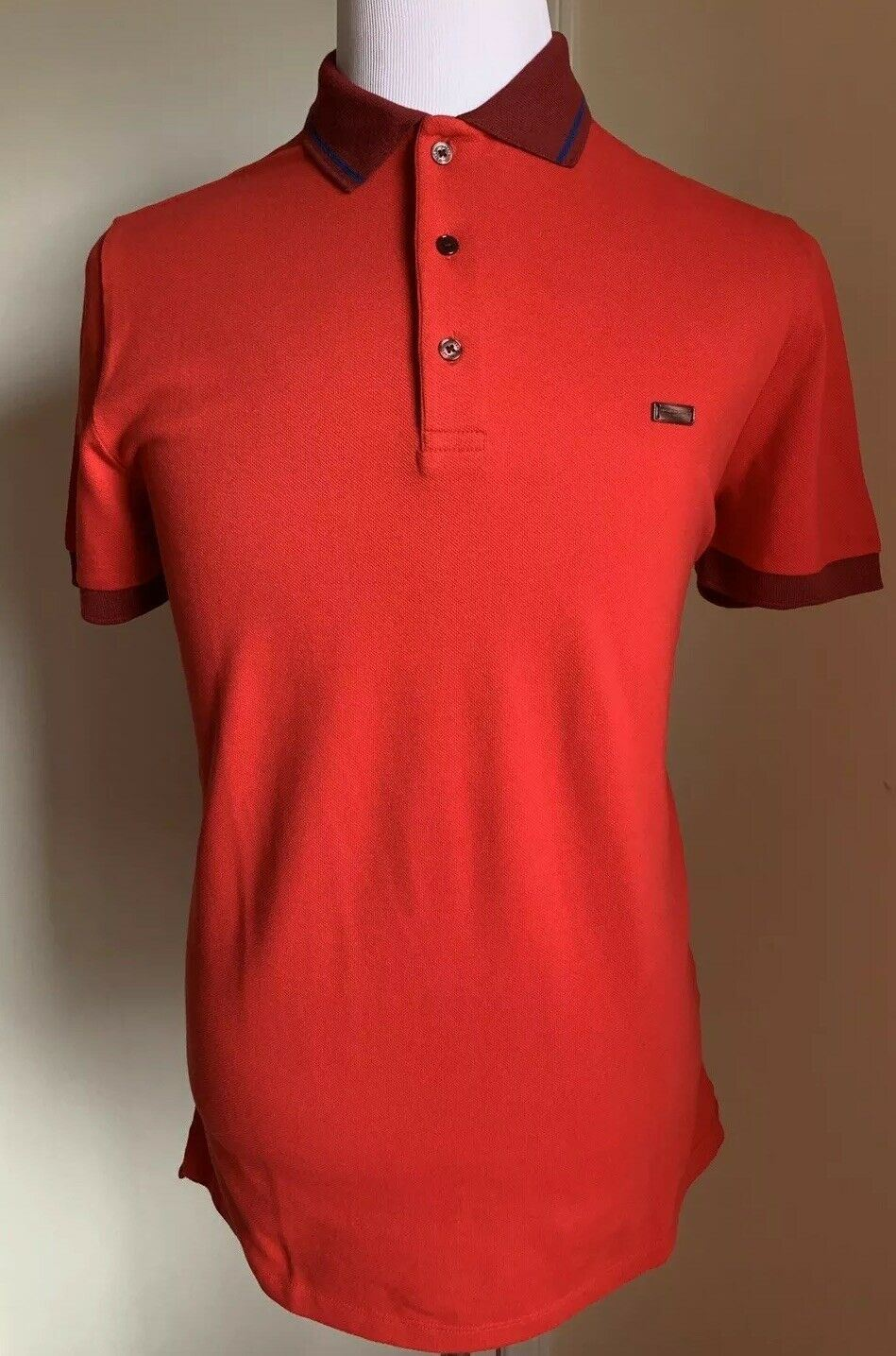 NWT $295 Burberry London Mens Polo Shirt Red Size XS US
