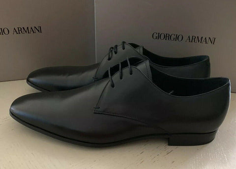 New $545 Giorgio Armani Mens Leather Oxfords Shoes Black 12 US/11 UK X2C036