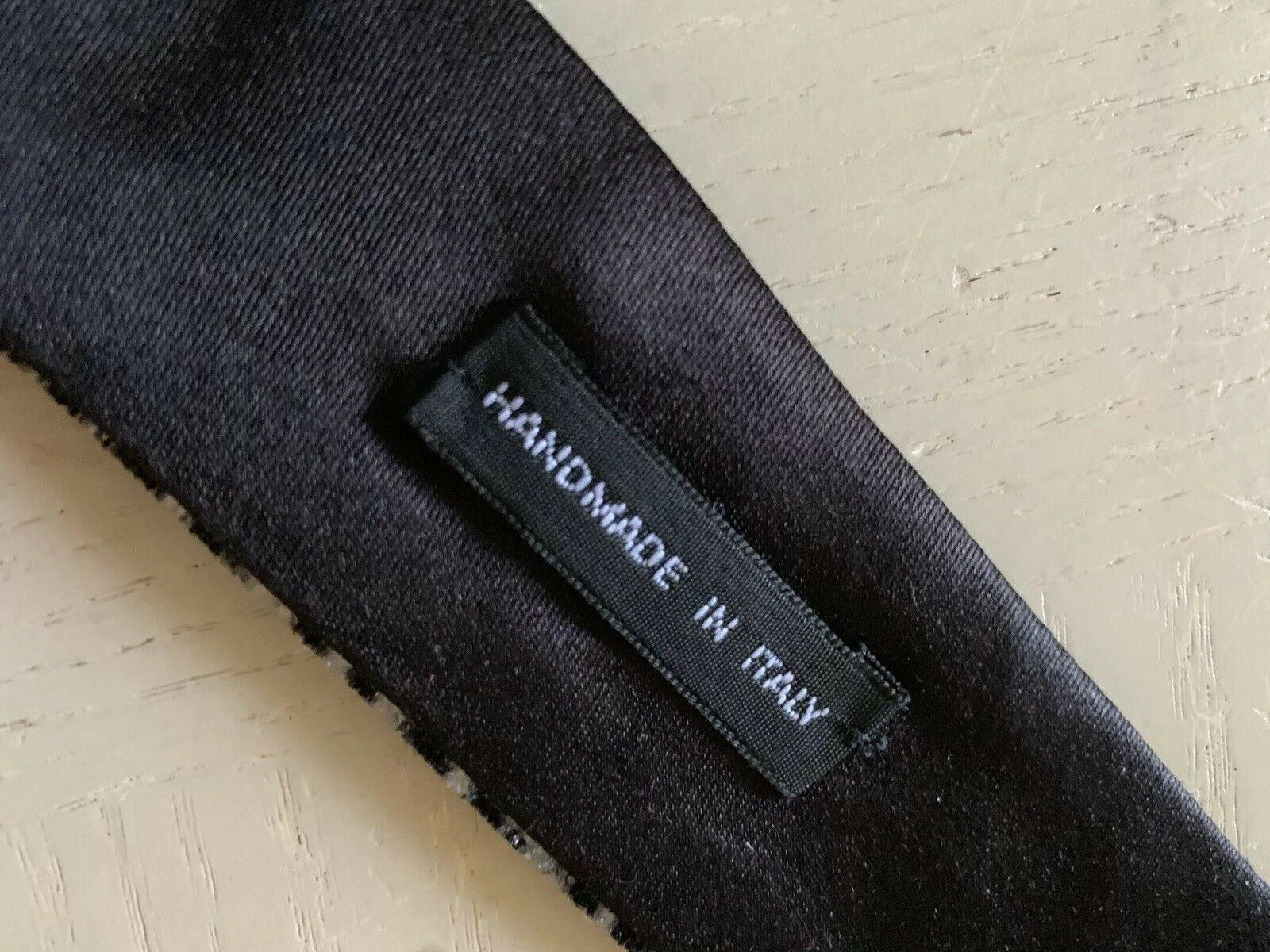 New $445 Giorgio Armani Neck Tie Black Hand made in Italy