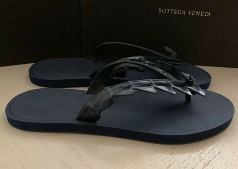 NIB $620 Bottega Veneta Men Crocodile Flip Flop Sandal Shoes DK Navy 10 US/43 Eu