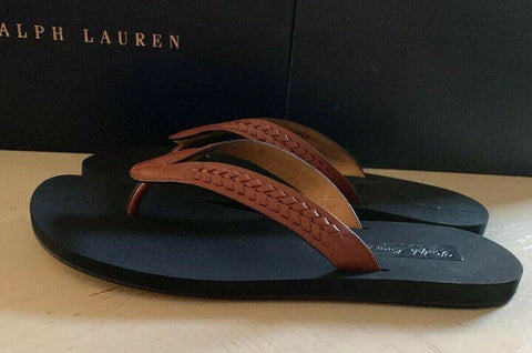 New $495 Ralph Lauren Purple Label Mens  Vachetta Leather Sandal Brown 12 US