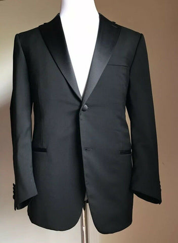 New $3995 ISAIA Napoli Tuxedo Suit ( Wool Jacket , Mohar Pants ) Black 40C US
