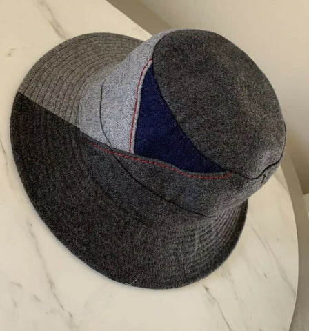 NWT Armani Jeans Mens Panama Hat Gray Size M