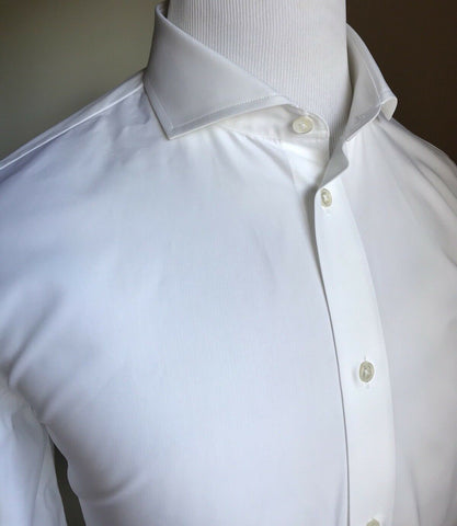 NWT $490 Bottega Veneta Mens Dress Shirt White 42/16.5 Italy