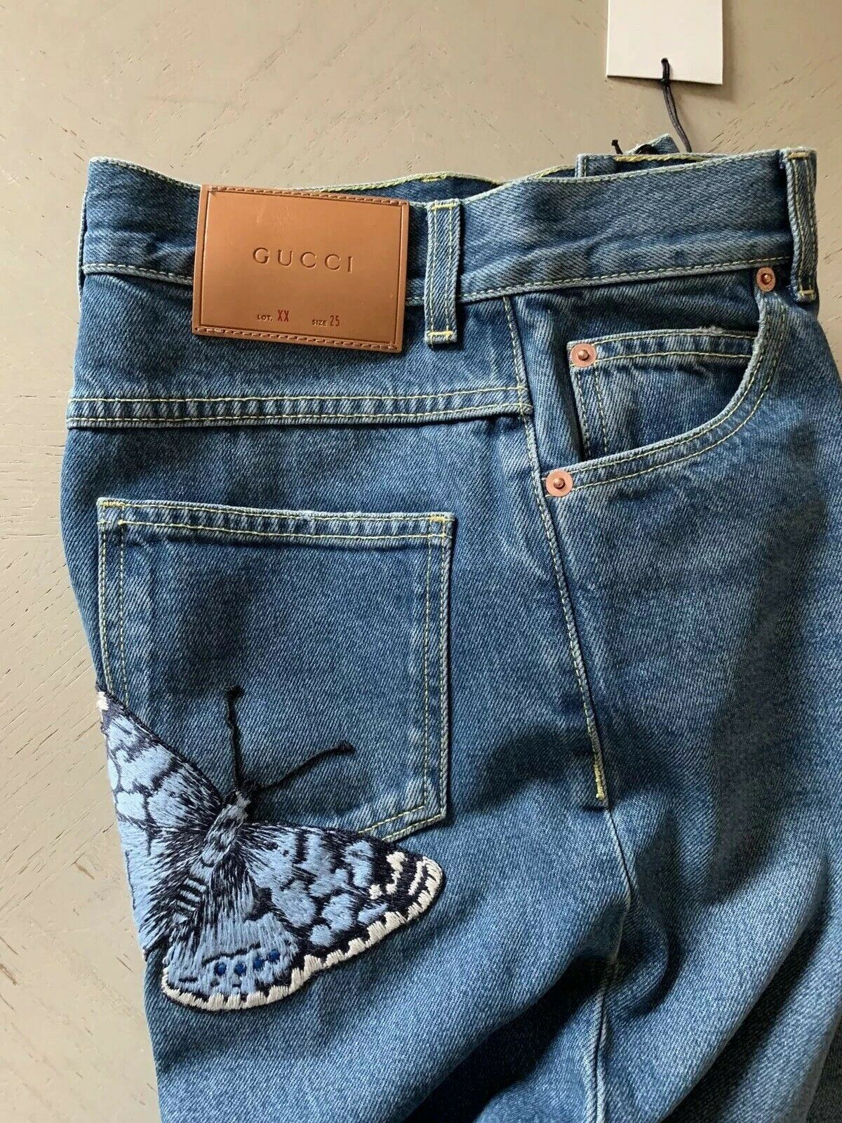 New $945 Gucci Women's Jeans Pants Skirt Blue Size 25