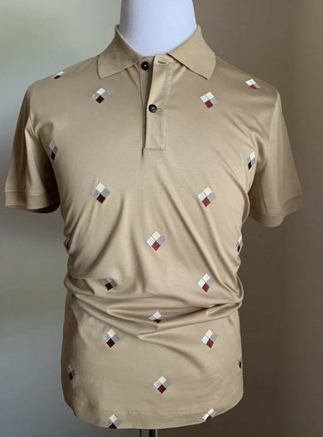 NWT $945 Giorgio Armani Mens Polo Shirt LT Brown XS-S US ( 46 Eu ) Italy