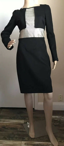 New $3550 Versace Dresses Black Size 42 It ( 6 US )  Made In Italy