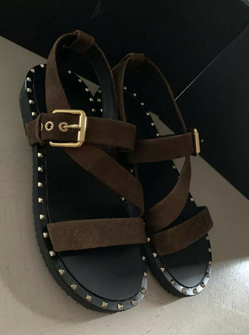 New $845 Giuseppe Zanotti Mens Suede Sandal Shoes Brown 11 US (44 Eu ) Italy