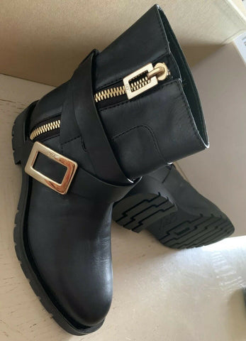 NIB $2550 Roger Vivier Women Ankle Boots Shoes Black 4 US ( 34 Eu ) Italy