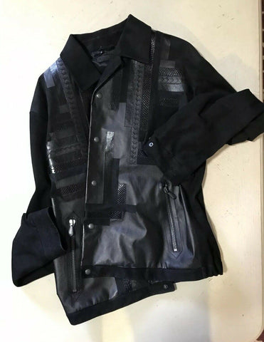 New $6700 Bottega Veneta Men's Luxury Mix Leather Jacket Coat 44 US ( 54 Eu )