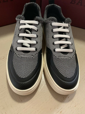 New $495 Bally Men Heckie Suede/Polyester Sneakers Shoes Black 9 US